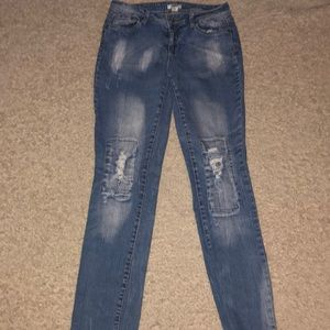 Cato Fade Distressed Ripped Jeans Sz 8 Stretch